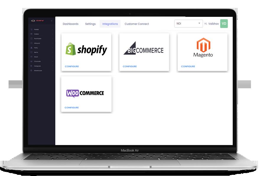 Custom website and web stores integration